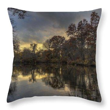 Autumn Sunset On West Brook Pond Throw Pillow