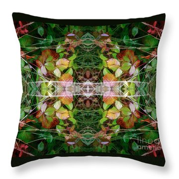 Autumn Symmetry Throw Pillow