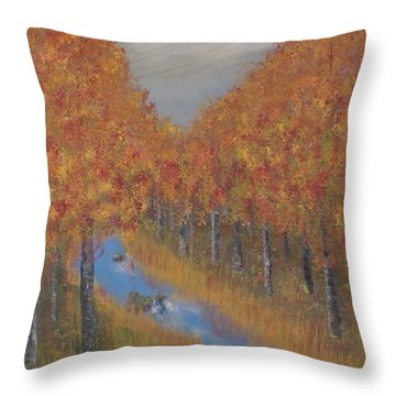 Autumn Throw Pillow by Tim Townsend