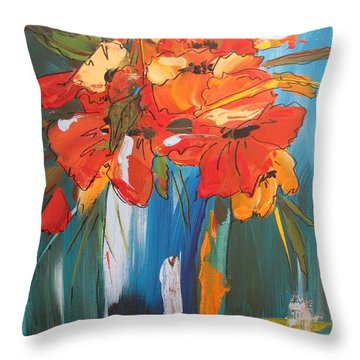 Autumn Vase Throw Pillow