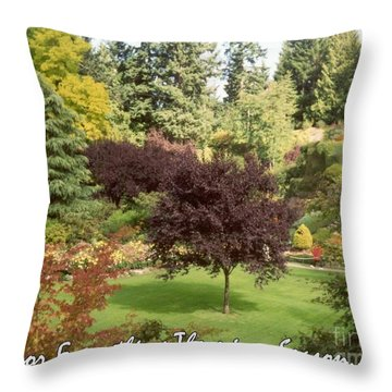 Autumn Victoria Bc Throw Pillow by Marlene Rose Besso