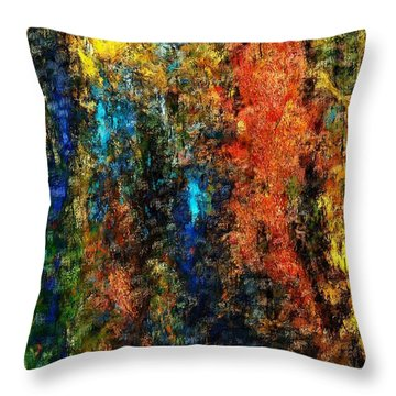 Autumn Visions Remembered Throw Pillow by David Lane