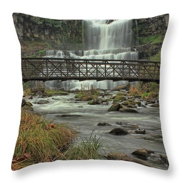 Autumn Waterfalls Throw Pillow
