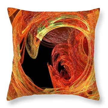 Autumn Waves Throw Pillow by Andee Design