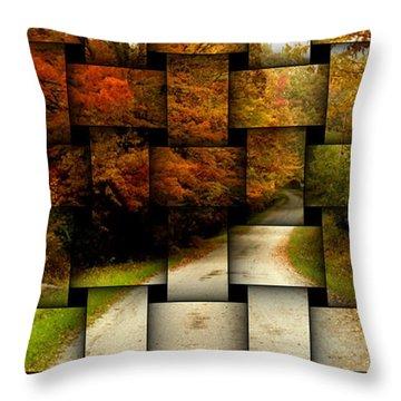 Autumn Weave Throw Pillow