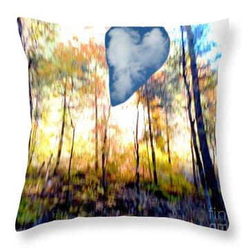 Autumn West Fork Bell Rock Heart Cloud Throw Pillow by Marlene Rose Besso