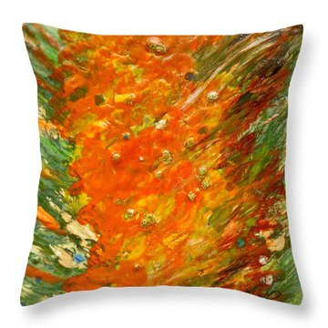 Autumn Wind Throw Pillow by Joan Reese