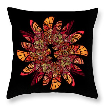 Autumn Wreath Throw Pillow