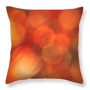 Autumnal Amber Throw Pillow