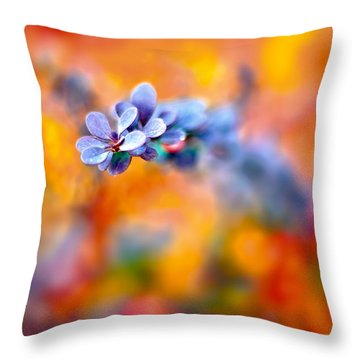 Autumnal Berberis Throw Pillow