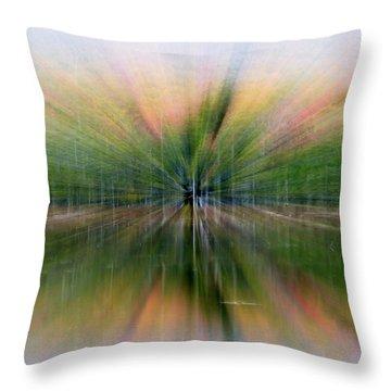 Autumnal Colors Burst Forward Throw Pillow