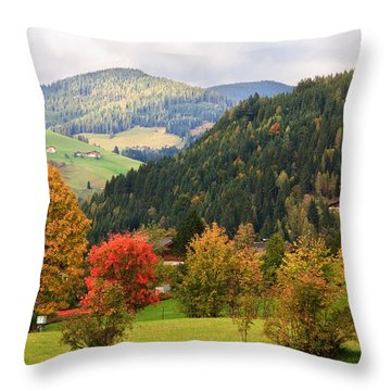 Autumnal Colours In Austria Throw Pillow
