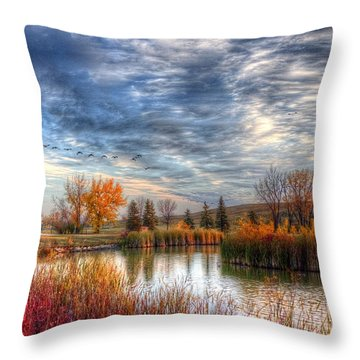 Autumnal Morn Throw Pillow