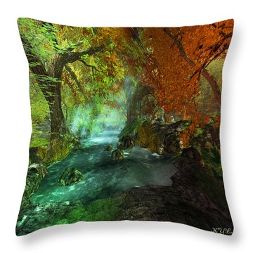 Autumnal Solitude  Throw Pillow by Kylie Sabra