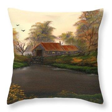 Autumnal Sunrise. Throw Pillow by Cynthia Adams