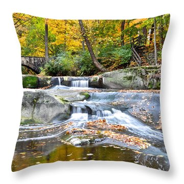 Autumnal Wonderland Throw Pillow by Frozen in Time Fine Art Photography