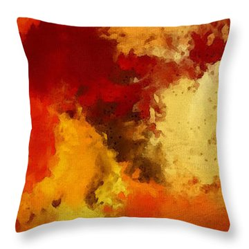 Autumn's Abstract Beauty Throw Pillow