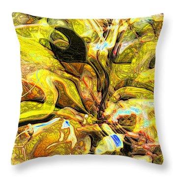 Autumn's Bones Throw Pillow by Richard Thomas