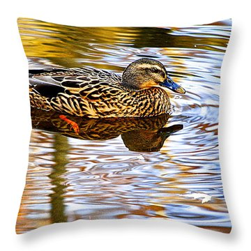Autumns Brilliance Throw Pillow by Frozen in Time Fine Art Photography