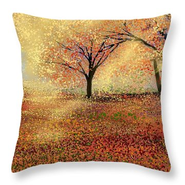 Throw Pillow featuring the digital art Autumn's Colors by Anthony Fishburne