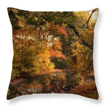 Throw Pillow featuring the photograph Autumn's Edge by Jessica Jenney