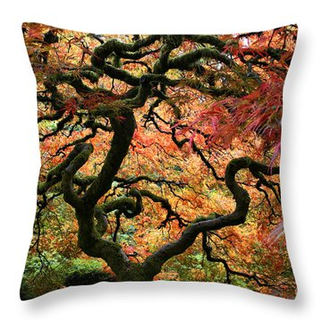 Autumn's Fire Throw Pillow