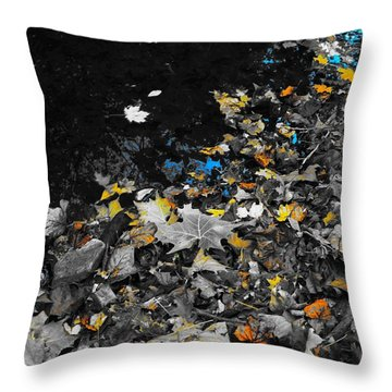 Throw Pillow featuring the photograph Autumn's Last Color by Photographic Arts And Design Studio