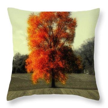 Autumn's Living Tree Throw Pillow