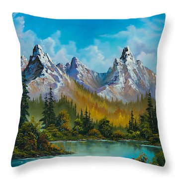 Autumn's Magnificence Throw Pillow by C Steele