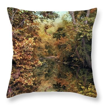 Autumn's Mirror Throw Pillow by Jessica Jenney