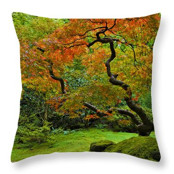 Autumn's Paintbrush Throw Pillow