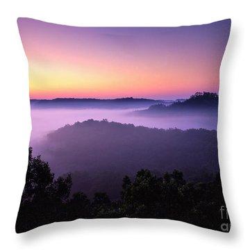 Auxier Ridge Dawn - Fm000023 Throw Pillow by Daniel Dempster