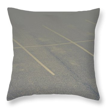 Available Parking Throw Pillow by Kellice Swaggerty
