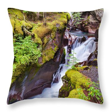 Avalanche Gorge 3 Of 4 Throw Pillow