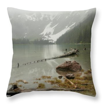 Avalanche Glacier National Park Throw Pillow by Jeff Swan