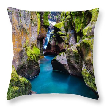 Avalanche Gorge 1 Of 4 Throw Pillow