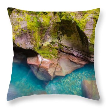 Avalanche Gorge 2 Of 4 Throw Pillow