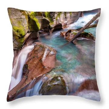 Avalanche Gorge 4 Of 4 Throw Pillow