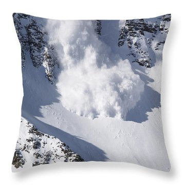 Avalanche II Throw Pillow