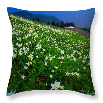 Avalanche Lily Field Throw Pillow