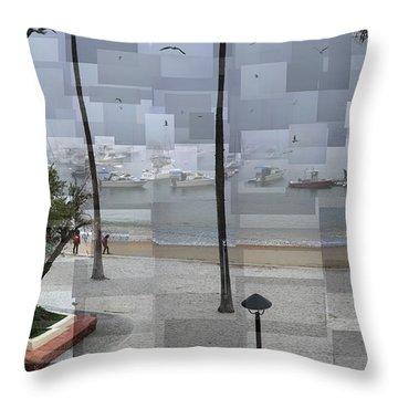 Avalon Fog Throw Pillow