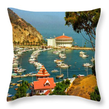 Avalon In The Summer Throw Pillow