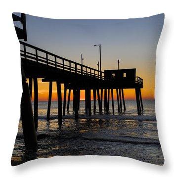 Avalon Pier Throw Pillow