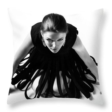 Avant Garde Fashion Throw Pillow by Diane Diederich