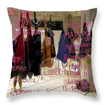 Throw Pillow featuring the photograph Performance List by Colleen Williams