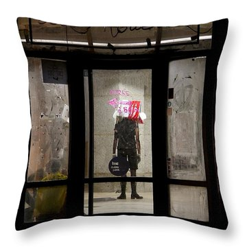 Throw Pillow featuring the photograph Avant-garde Theatre by Colleen Williams