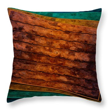 Throw Pillow featuring the photograph Avant Rust by WB Johnston