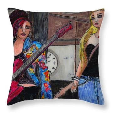 Avatar Girls Throw Pillow by Phil Strang