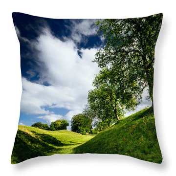 Avebury Hillside Throw Pillow