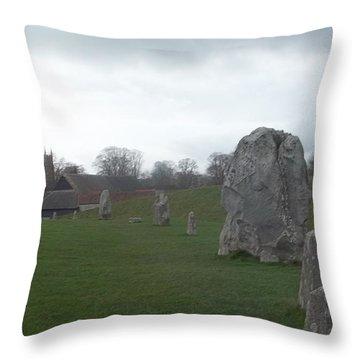 Avebury Stone Henge Throw Pillow